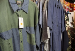 Montana Family Market_blue and green two tone shirts