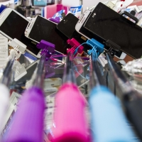 Montana Family Market_SS Cellular and Communication_different colored selfie sticks