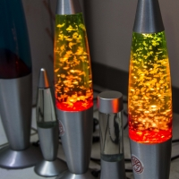 Montana Family Market_Z. Ali Electronics_lava lamp in orange and red